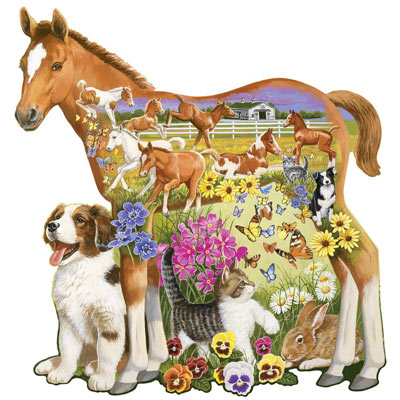 Pony And Pals 300 Large Piece Shaped Jigsaw Puzzle