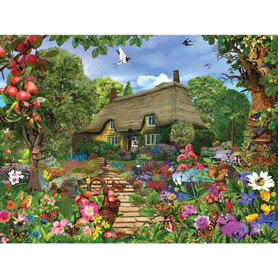 English Cottage Garden 300 Large Piece Jigsaw Puzzle