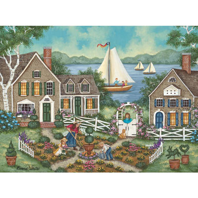Lake Side Garden 1000 Piece Jigsaw Puzzle