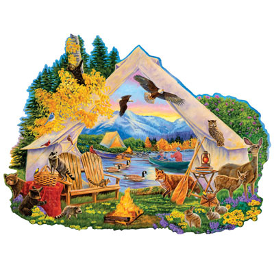 Campfire Memories 750 Piece Shaped Jigsaw Puzzle