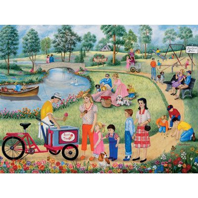 Maple Street Park 500 Large Piece Jigsaw Puzzle