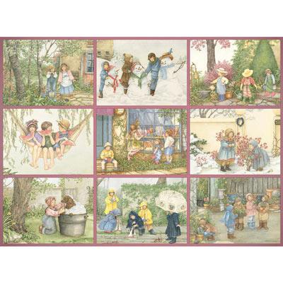 Childhood Memories Quilt 500 Piece Jigsaw Puzzle