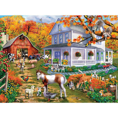 Country Greetings 1000 Large Piece Jigsaw Puzzle