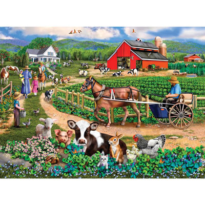Family Farm 300 Large Piece Jigsaw Puzzle