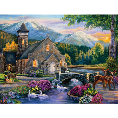 Beside Still Waters 500 Piece Jigsaw Puzzle