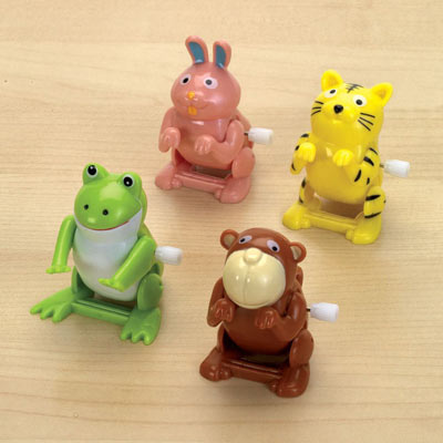 Set Of Four: Wind-Up Flipping Animal Toys