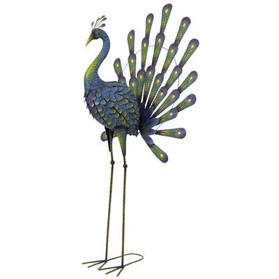 Metal Peacock Garden Statue