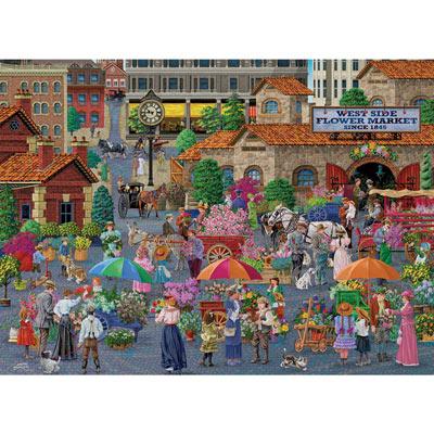 West Side Flower Market 500 Piece Jigsaw Puzzle