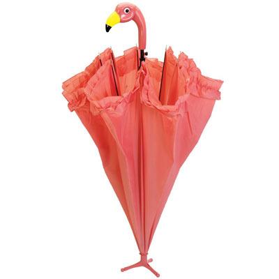 Ruffled Flamingo Umbrella