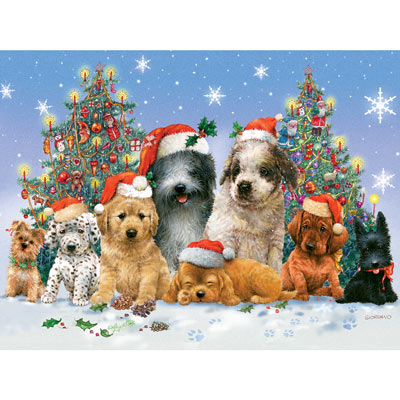 Canine Christmas 300 Large Piece Jigsaw Puzzle
