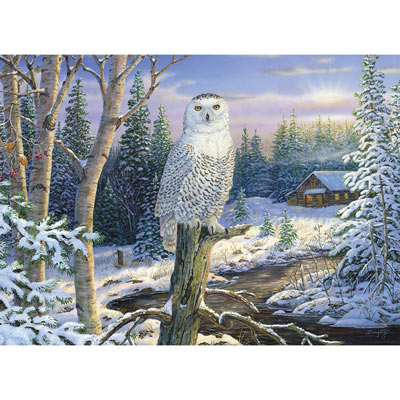 Whispering Ridge Snowy Owl 500 Piece Giant Jigsaw Puzzle