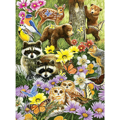 Bear Cub Playdate 1000 Piece Jigsaw Puzzle