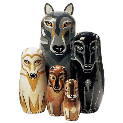 Nesting Wolf Pack