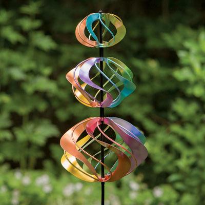 Shimmering Triple WindSpinner Stake