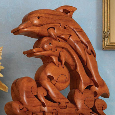 Dolphin Wave Wooden Puzzle