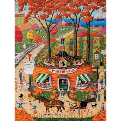 Pumpkin Cottage 300 Large Piece Jigsaw Puzzle