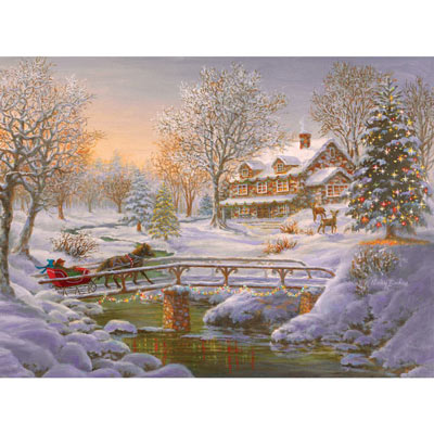 Over The Bridge To Grandma's House 500 Piece Jigsaw Puzzle