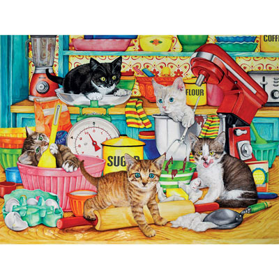 Kitchen Tails 300 Large Piece Jigsaw Puzzle