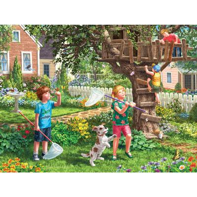 Back Yard Fun 500 Piece Jigsaw Puzzle