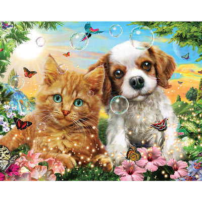 Kitten And Puppy 200 Large Piece Jigsaw Puzzle