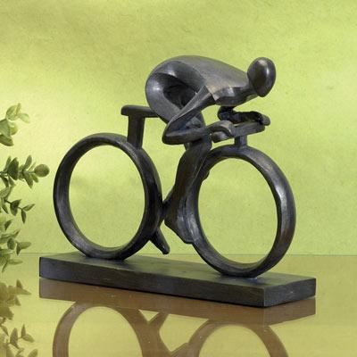 Favourite Pastime Cyclist Statue