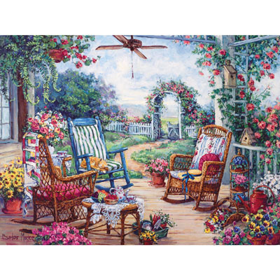 Garden Cats Tapestry Throw