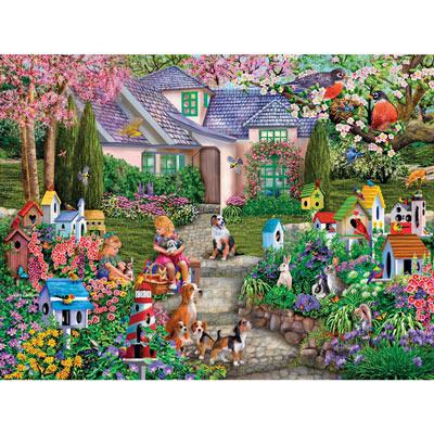 Birdhouse Garden 1000 Piece Jigsaw Puzzle