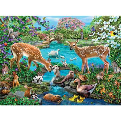 Friendly Clearing 300 Large Piece Jigsaw Puzzle