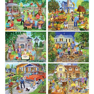 Set of 6: Sandy Rusinko 500 Piece Jigsaw Puzzles