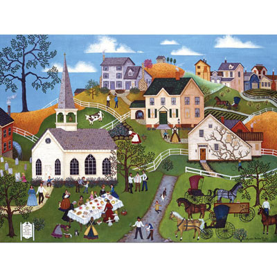 Ladies Aid Basket Dinner 300 Large Piece Jigsaw Puzzle