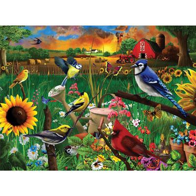 Sunflower Birds 1000 Piece Jigsaw Puzzle