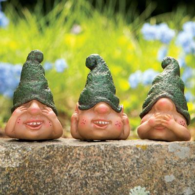 Three Cute Little Gnomes