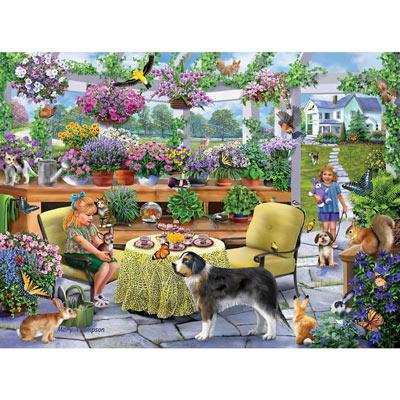 Greenhouse Tea Party 1000 Piece Jigsaw Puzzle