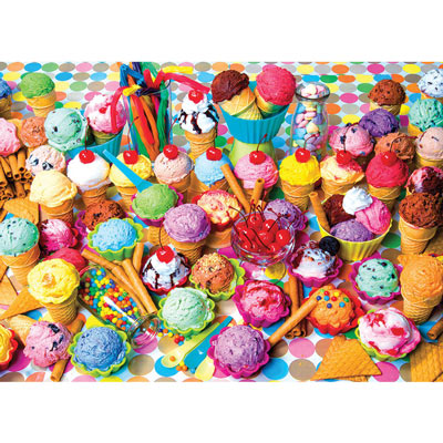 Ice Cream Cones Collage 1000 Piece Jigsaw Puzzle