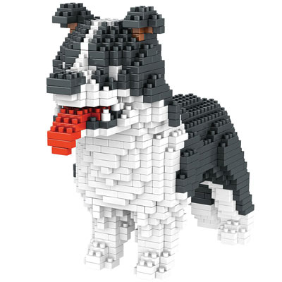 Dog Breed 3-D BlockPuzzle- Border Collie