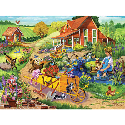 Blooming Fun On The Farm 300 Large Piece Jigsaw Puzzle