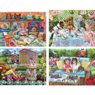 Set of 4: Brooke Faulder 300 Large Piece Jigsaw Puzzles