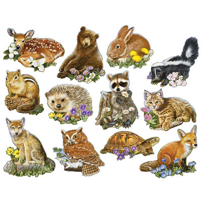 Mini Forest Youngsters 700 Piece Shaped Puzzles