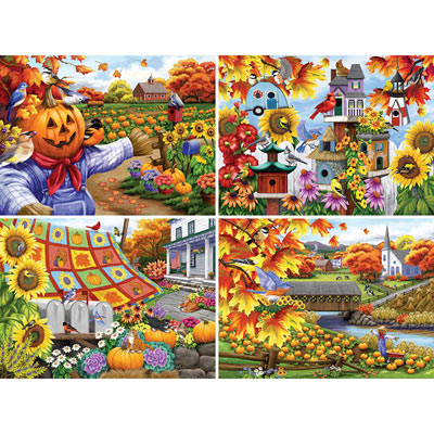 Set of 4: Nancy Wernersbach 500 Piece Jigsaw Puzzle