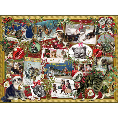 Christmas Cats 1000 Piece Jigsaw Puzzle