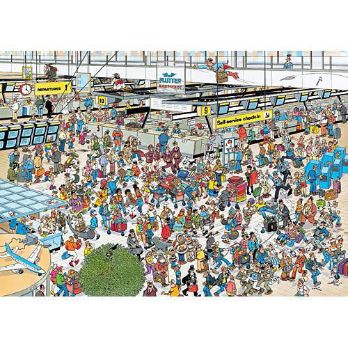 Departure Hall 2000 Piece Jigsaw Puzzle