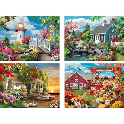 Scenic Beauty 1000 Piece 4-in-1 Multi-Pack Set