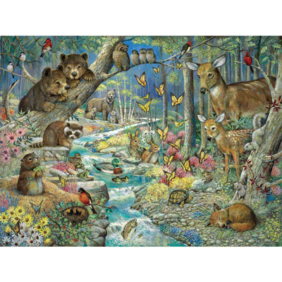 Spring Babies 300 Large Piece Jigsaw Puzzle
