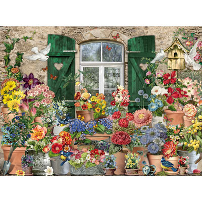 Flowers Outside 300 Large Piece Jigsaw Puzzle