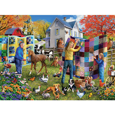 Country Quilts 300 Large Piece Jigsaw Puzzle
