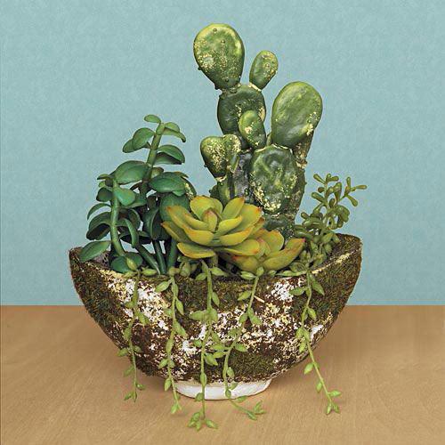 Deluxe Faux Succulent Garden