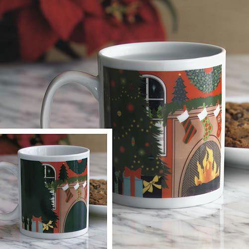 Christmas Hearth Colour Changing Mug