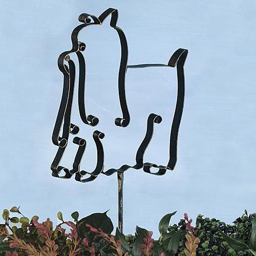 Yorkie Garden Stake