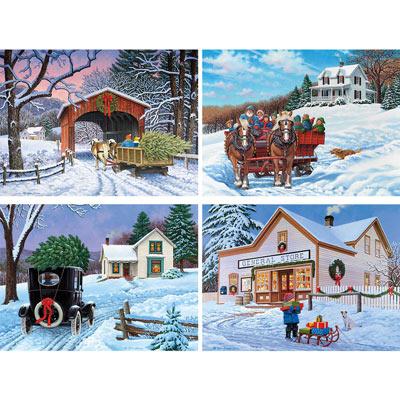 Set of 4: John Sloane 500 Piece Jigsaw Puzzles