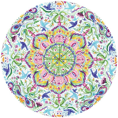 Blue Bird Kaleidoscope 300 Large Piece Round Jigsaw Puzzle